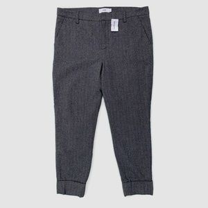 Closed Stewart Cropped Trouser Pants Herringbone